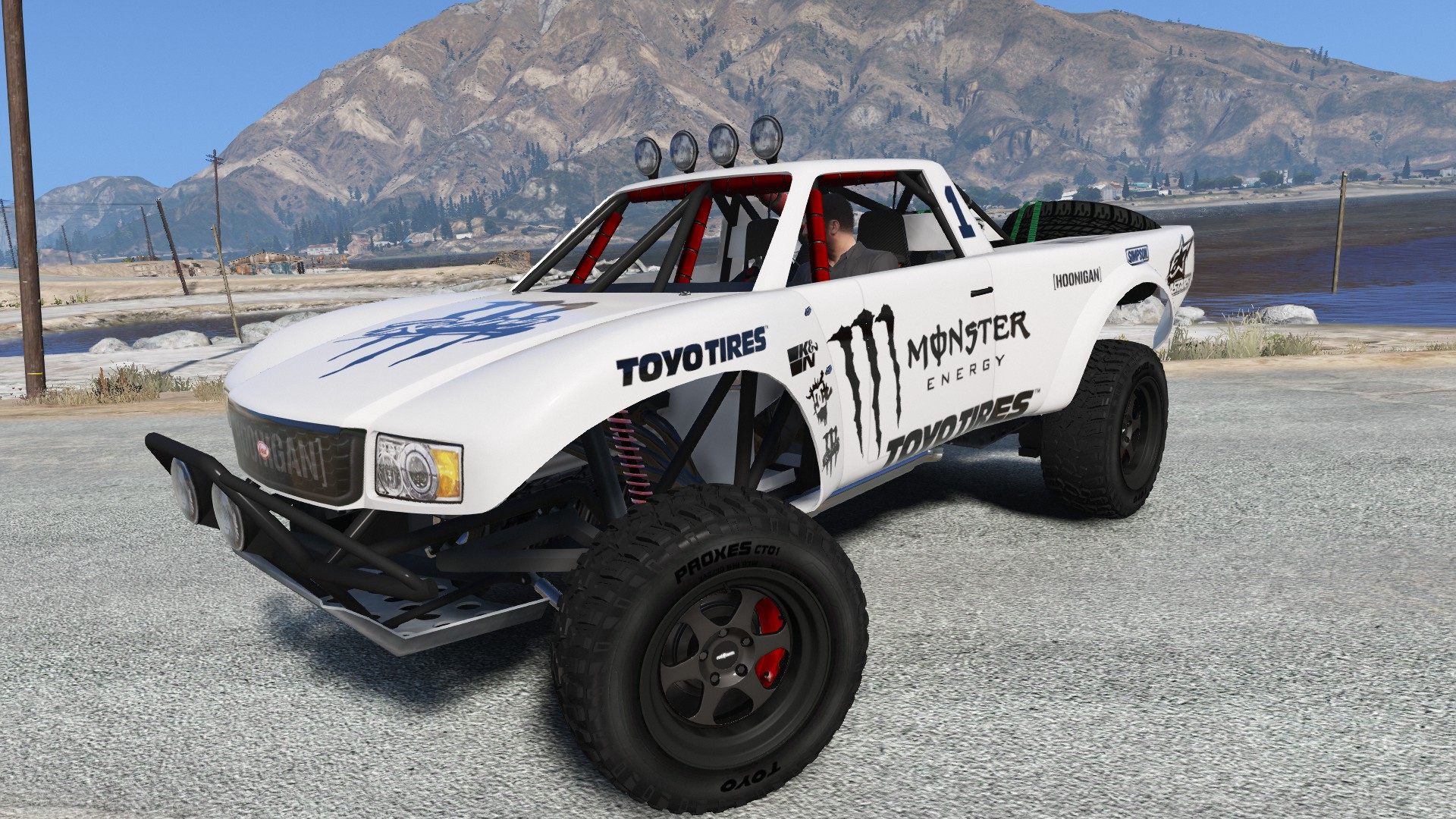 trophy truck monster energy black livery  any color