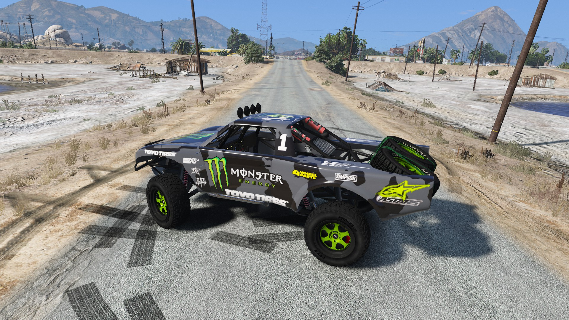 Trophy Truck Monster Energy Livery Any Color Mods Com