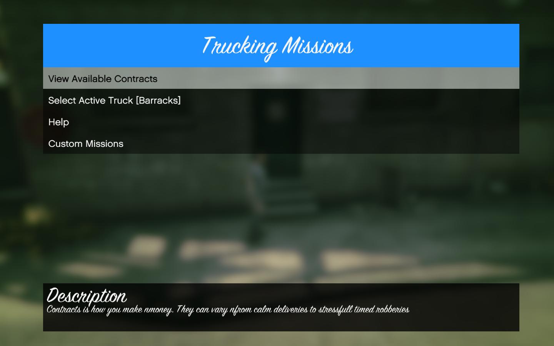 Trucking Missions - GTA5-Mods com