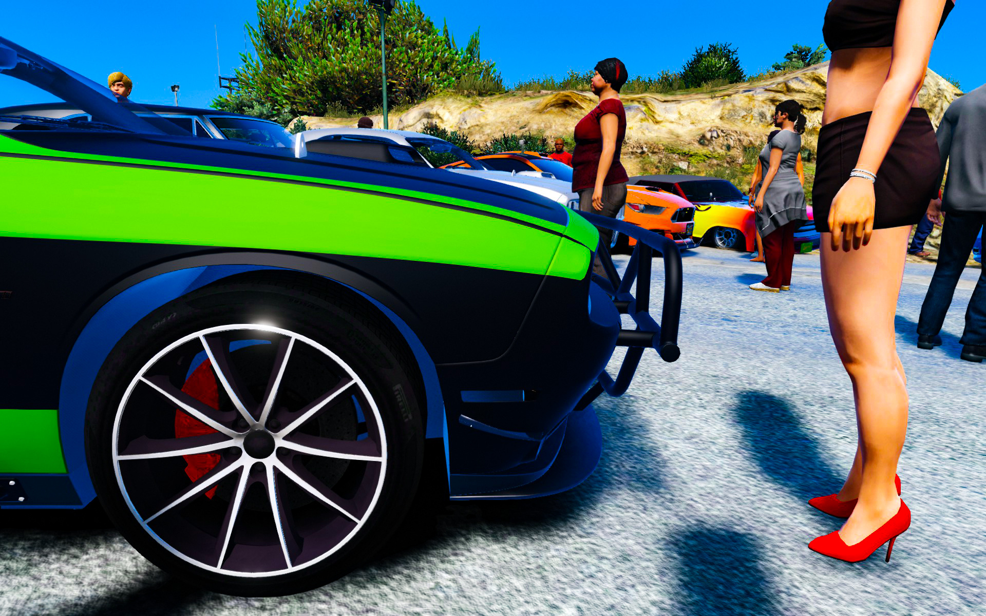 Tuning Car Meet at Vinewood Sign [Menyoo] - GTA5-Mods com