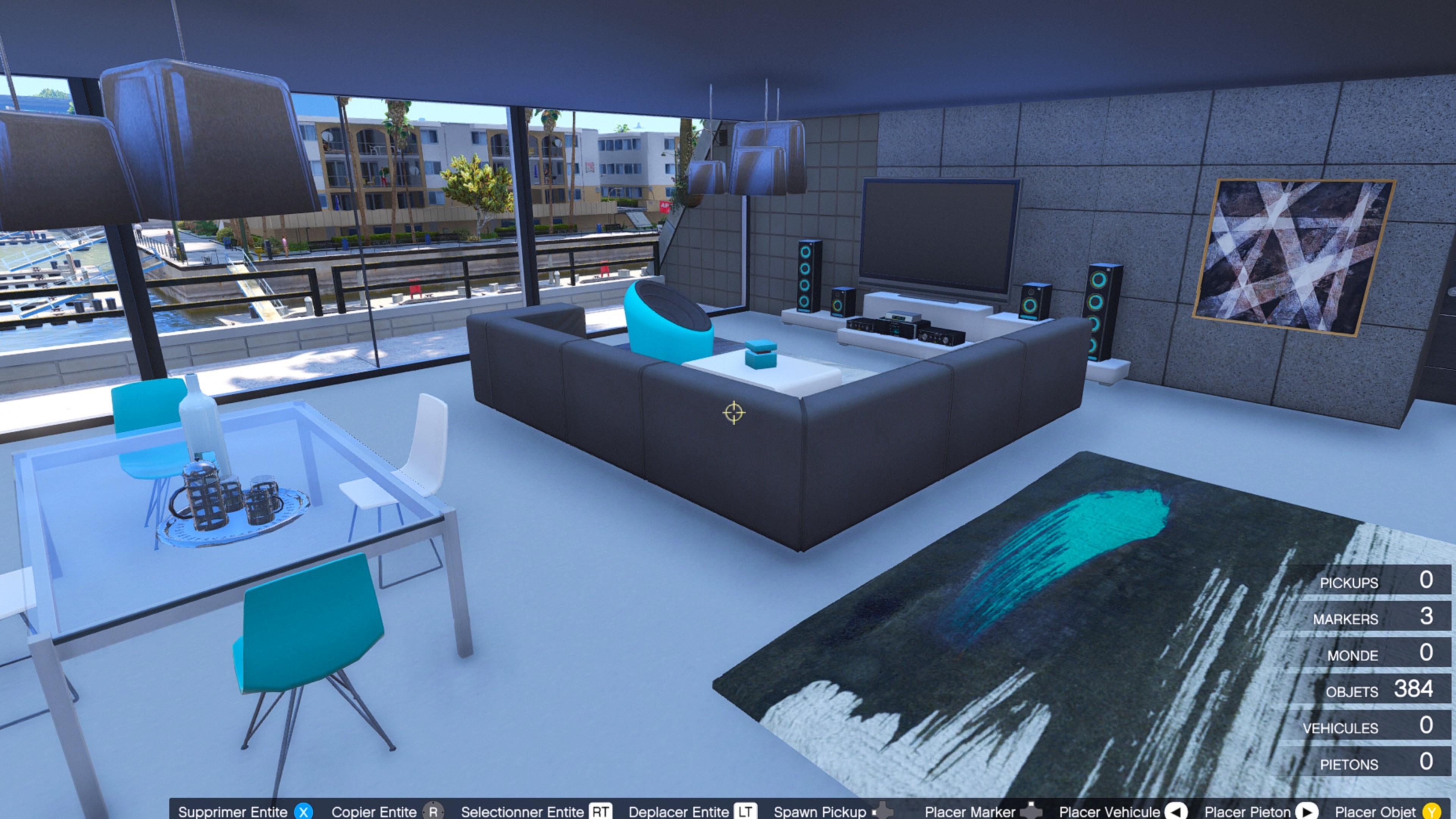 Turquoise design apartment gta5 for Designer apartment gta 5