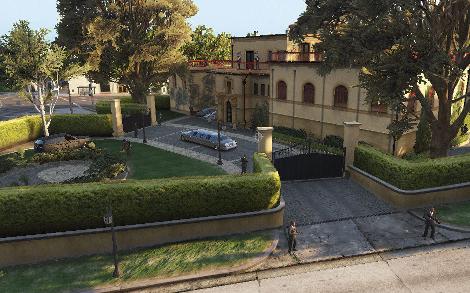 Ultimate mafia boss high security mansions with private for High security house plans