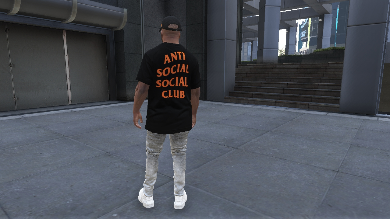 ff9c5cc9 UNDEFEATED x Anti Social Social Club (PARANOID) CLOTHING PACK - GTA5 ...