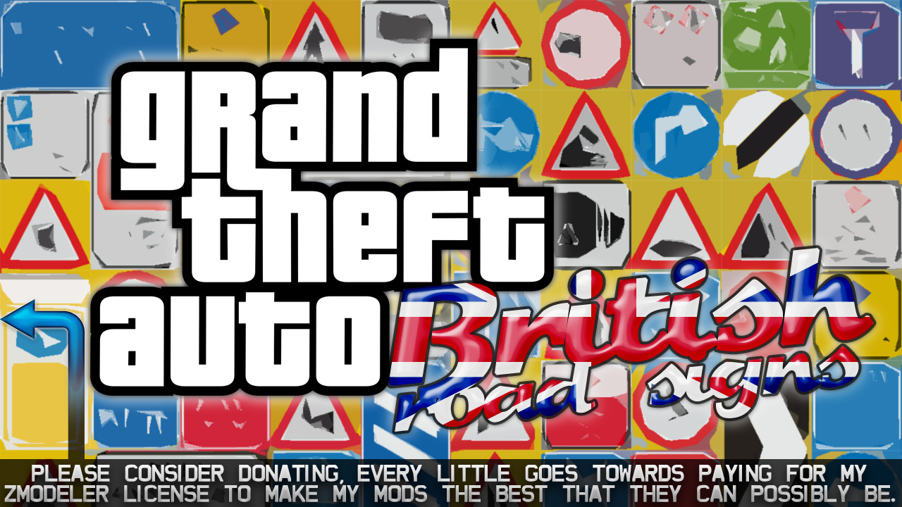 British uk road signs props oiv gta5 for De signs