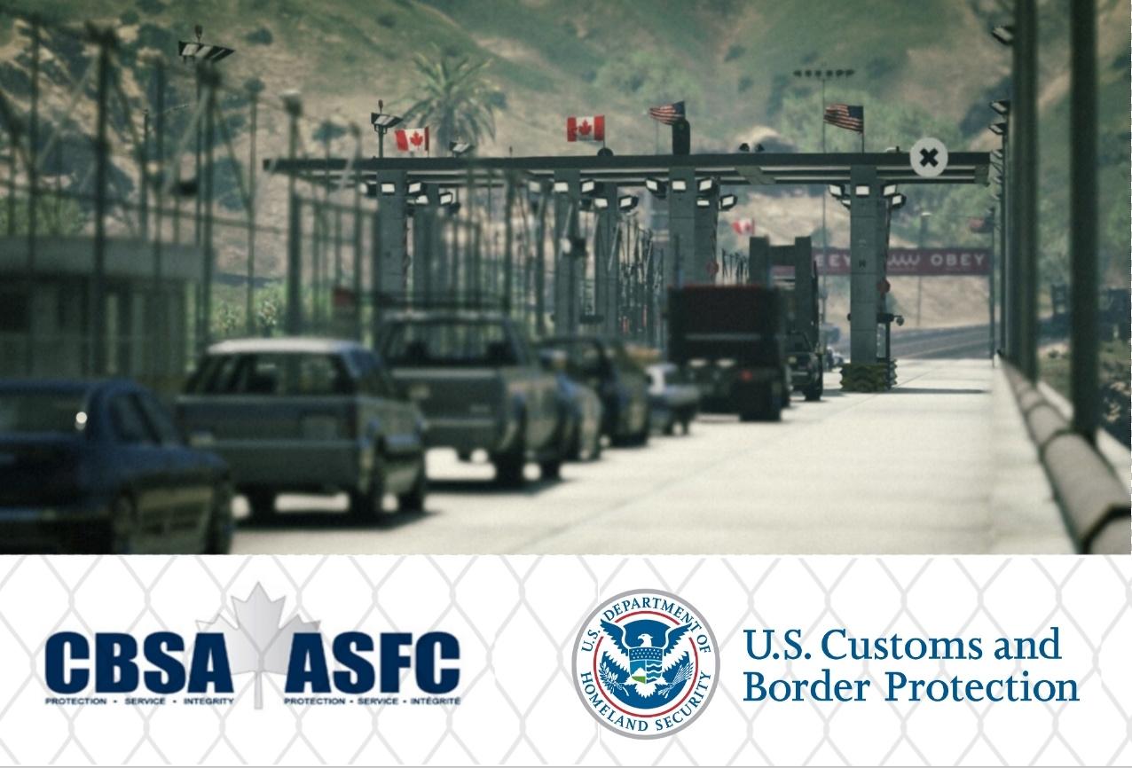 USCanada Border Checkpoint Map Editor GTAModscom - Us map editor