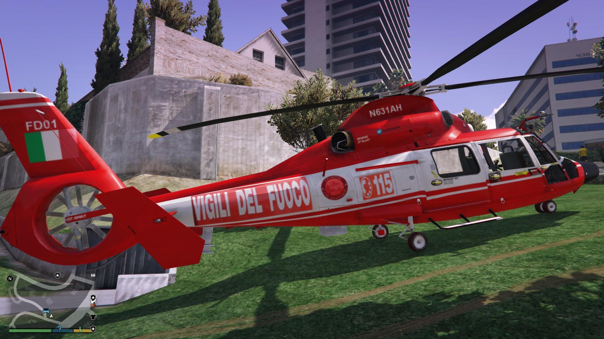 Elicottero 205 : Vigili del fuoco elicottero gta mods