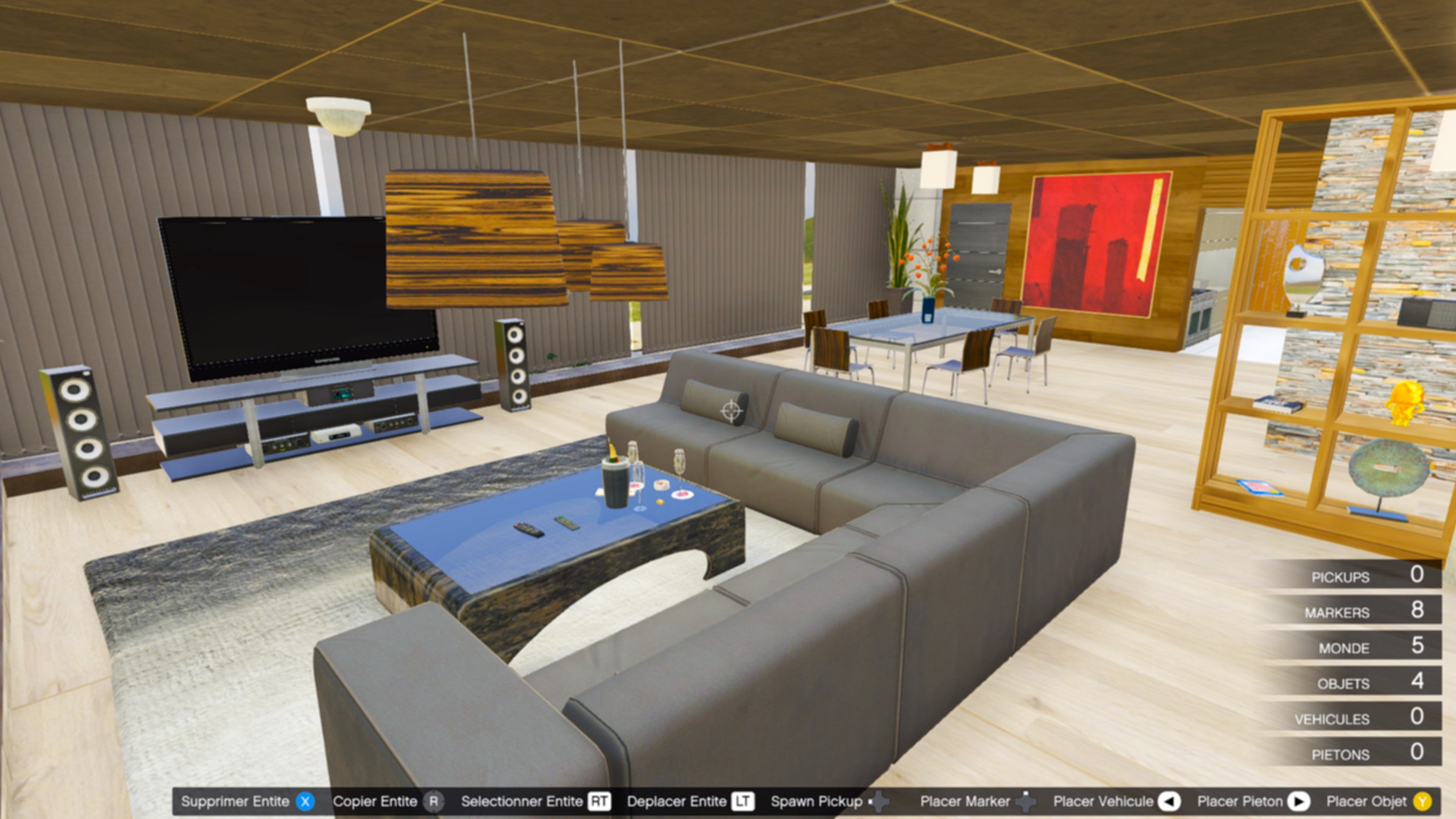 Villa interior map editor ymap gta5 for Designer apartment gta 5