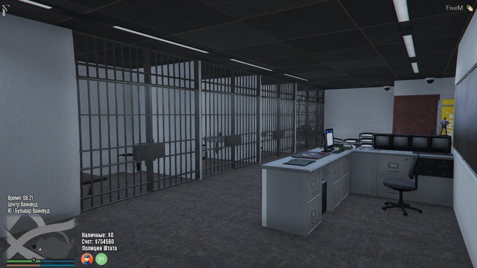 Interior: Vinewood Police Station Interior [YMAP/Map Builder]