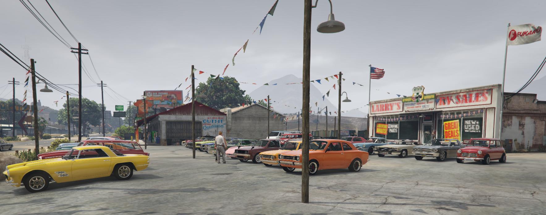 Vintage Cars Dealership Grand Senora Desert Town Gta5
