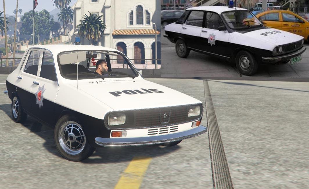 Vintage Renault 12 Turk Polis Arabasi 4k Gta5 Mods Com