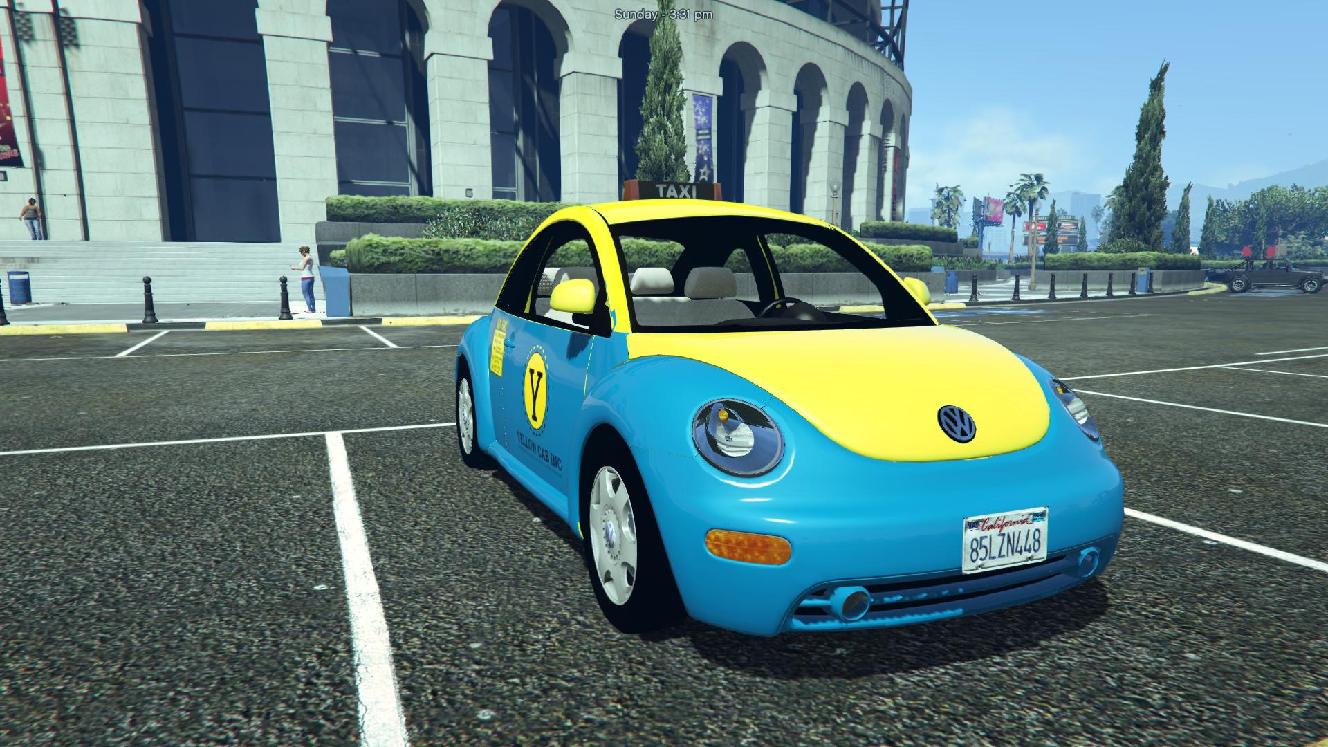 volkswagen beetle 2003 taxi replace template unlocked gta5. Black Bedroom Furniture Sets. Home Design Ideas