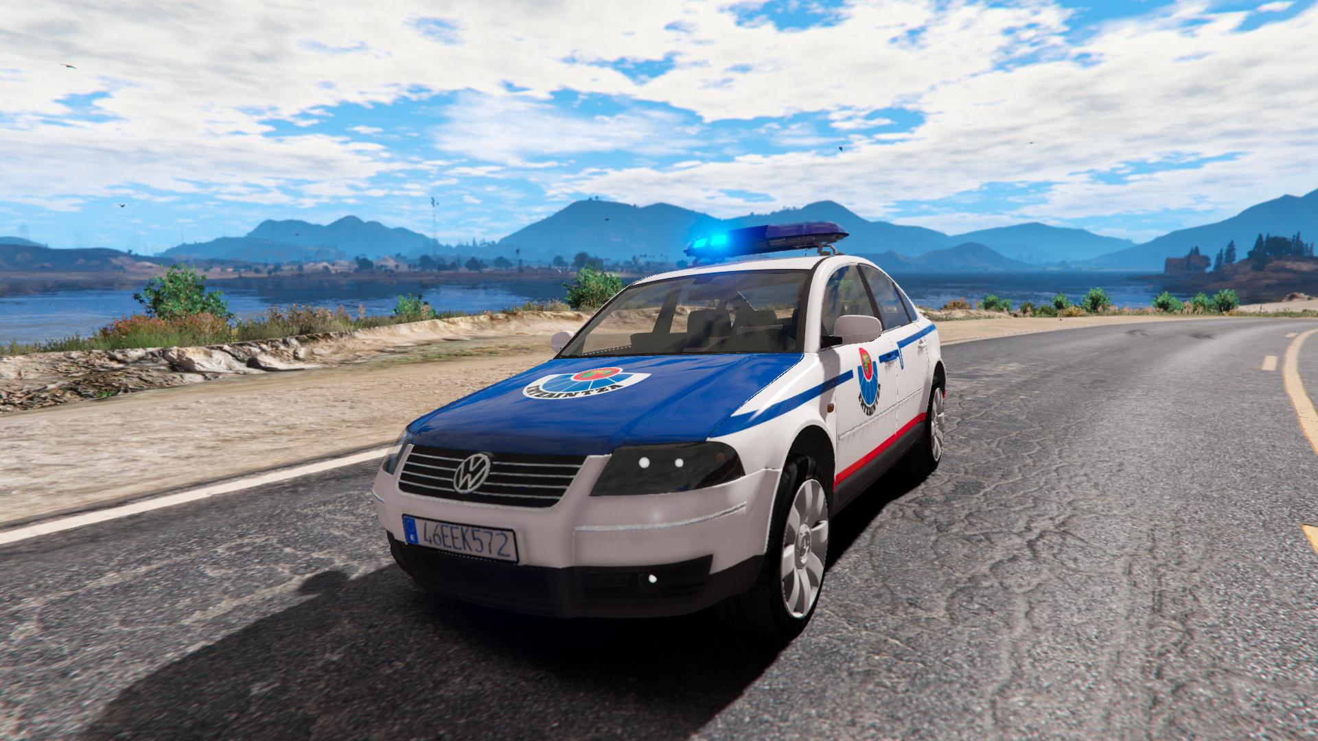 Volkswagen Passat B5 Ertzaintza Basque Police Els Replace Gta5 Mods Com
