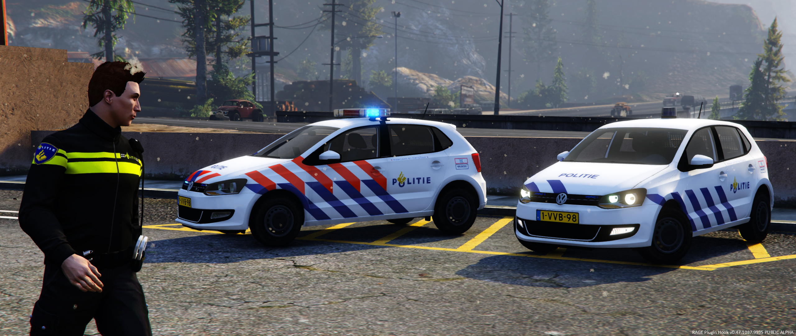volkswagen polo dutch police gta5. Black Bedroom Furniture Sets. Home Design Ideas