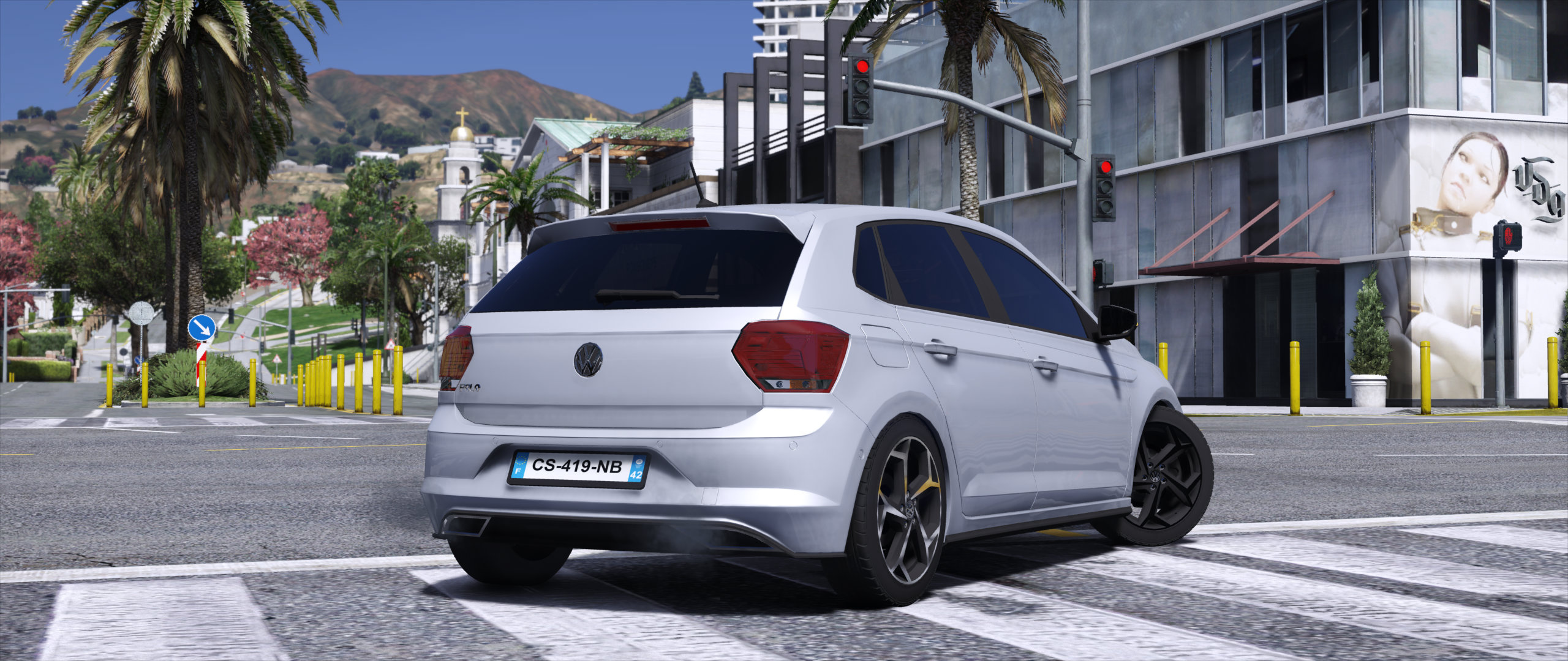volkswagen polo r line 2018 add on replace unlocked gta5. Black Bedroom Furniture Sets. Home Design Ideas
