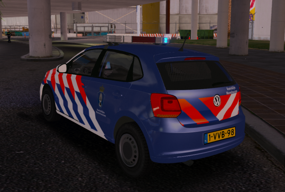 working again volkswagen polo dutch royal police koninklijke marechaussee gta5. Black Bedroom Furniture Sets. Home Design Ideas