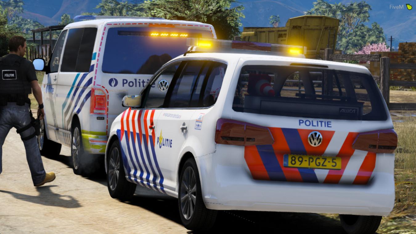 Volkswagen Touran 2011 Nederlandse Politie Els Gta5