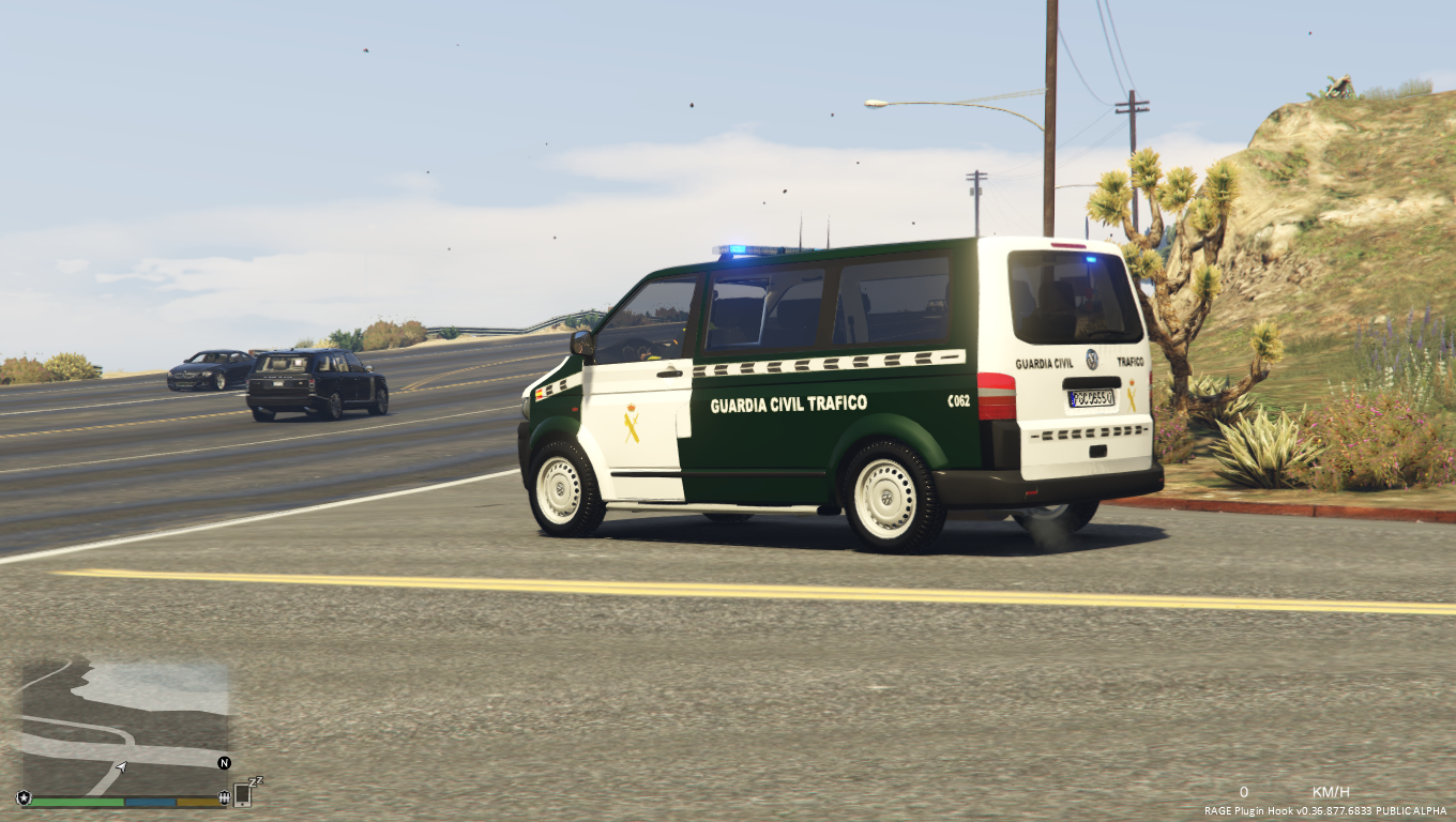 volkswagen transporter t5 guardia civil trafico spanish traffic police gta5. Black Bedroom Furniture Sets. Home Design Ideas
