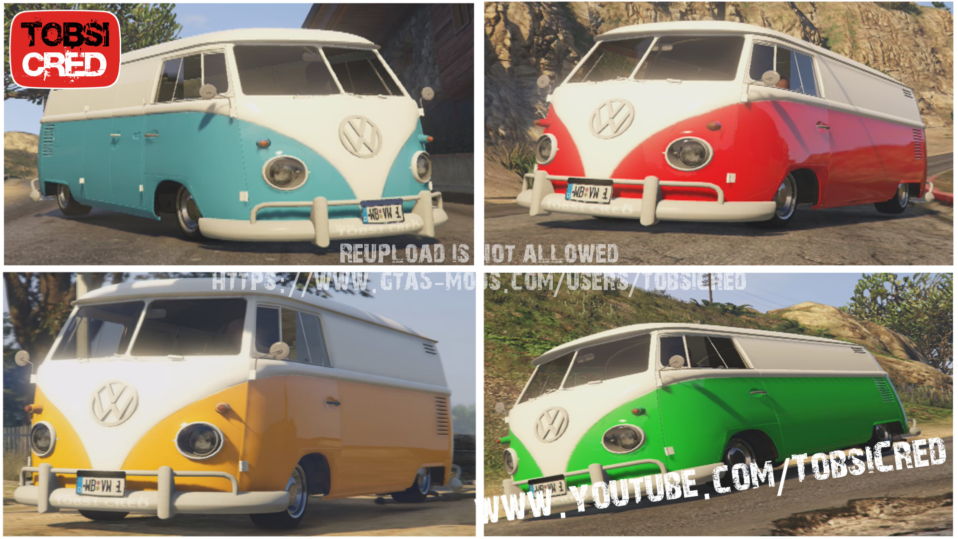 volkswagen bully t1 classic edition gta5. Black Bedroom Furniture Sets. Home Design Ideas