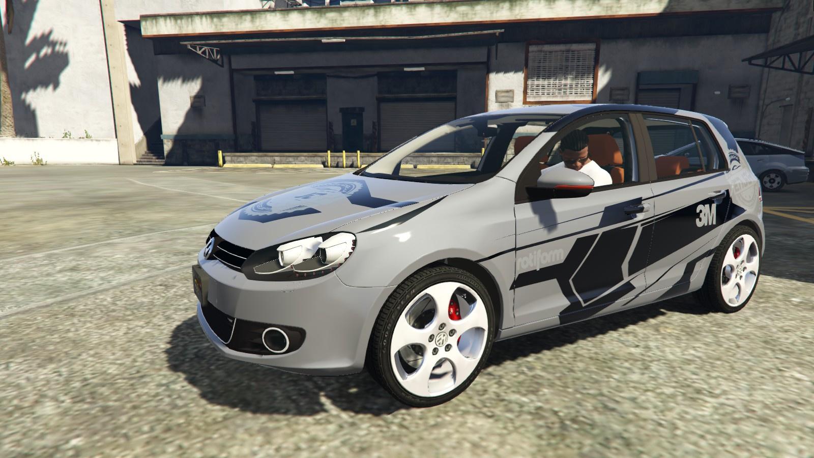 Vw Golf Mk6 Gti Enjoy 3m Car Wrap Paintjob Gta5 Mods Com