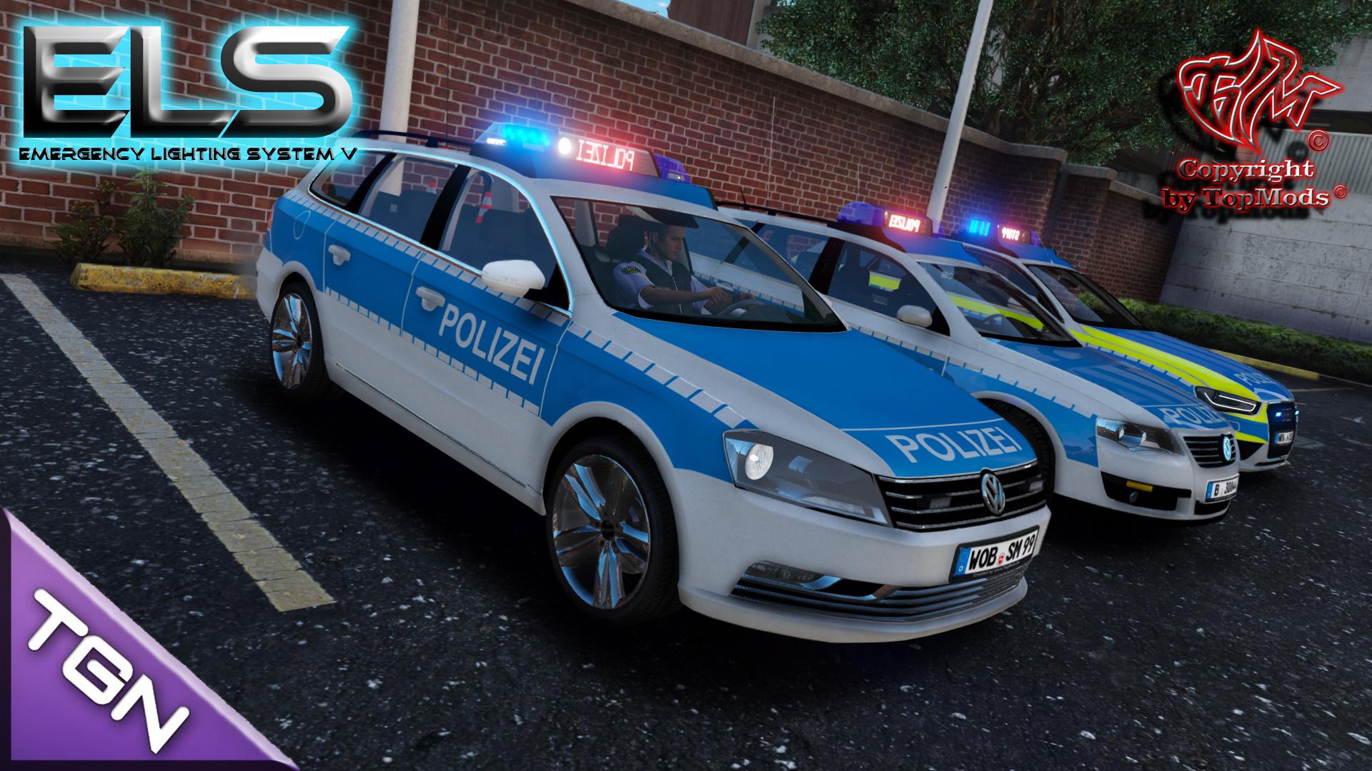 volkswagen passat b7 polizei wolfsburg els gta5. Black Bedroom Furniture Sets. Home Design Ideas