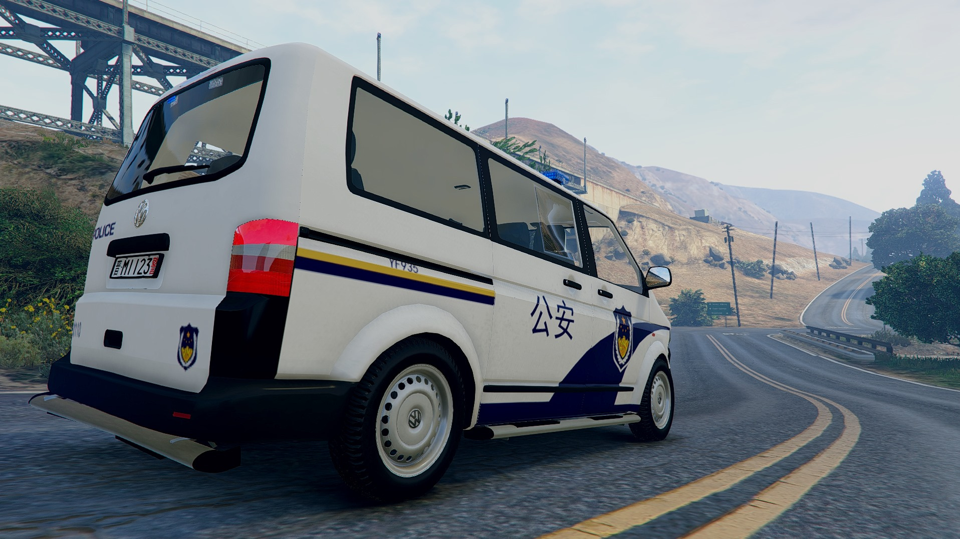 Volkswagen T5 With Leds Chinese Police 大众t5 中国警车 Gta5