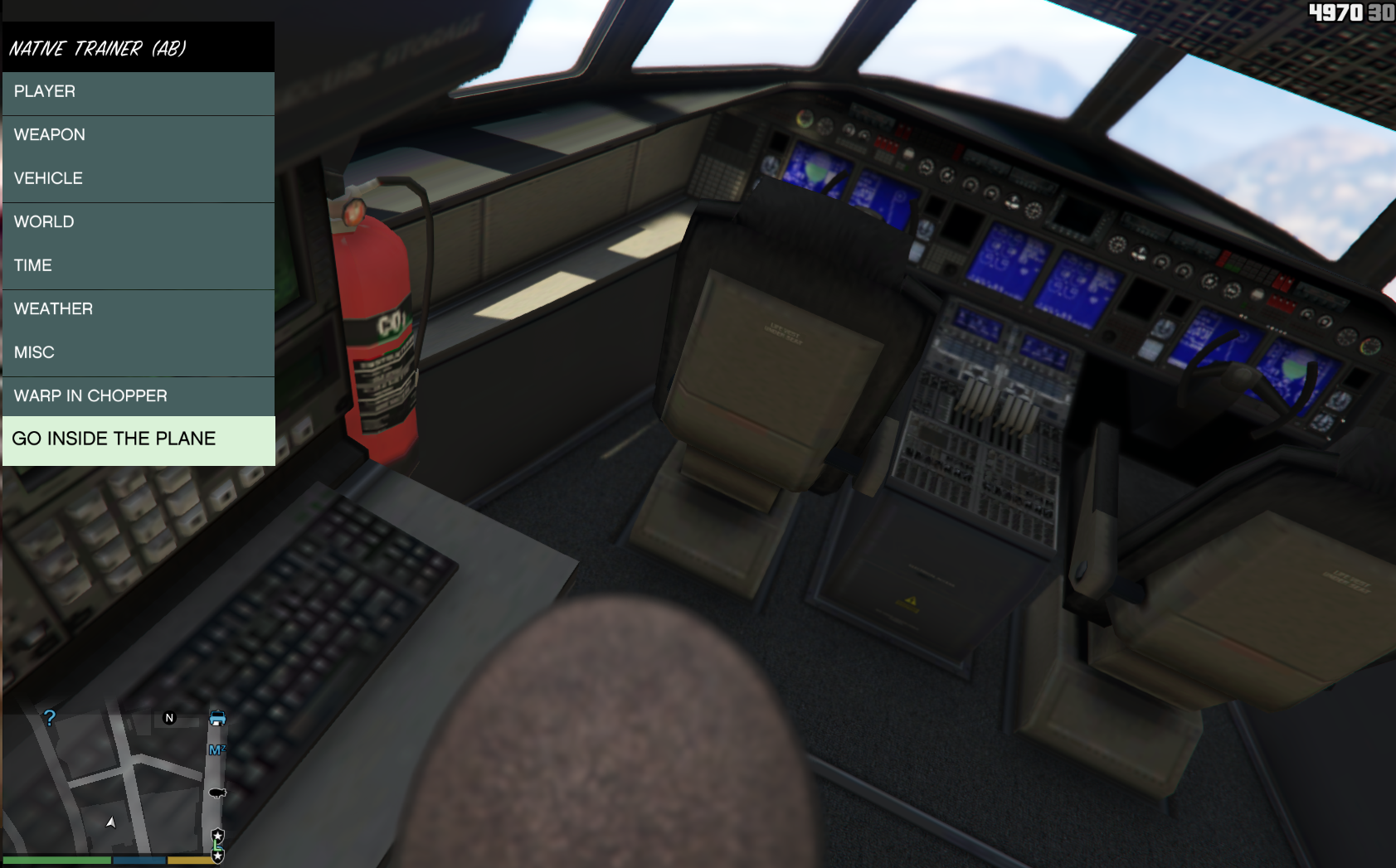 Autopilot: Walk around cargo plane while flying and drive out the