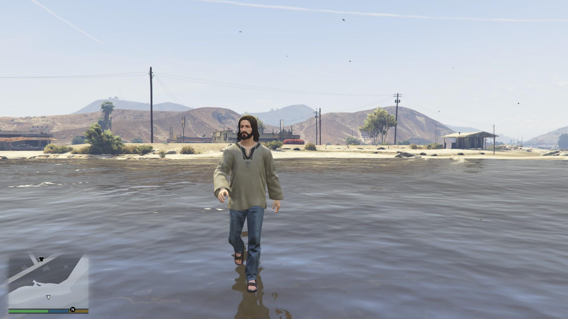 Walk Water GTA5 Mods