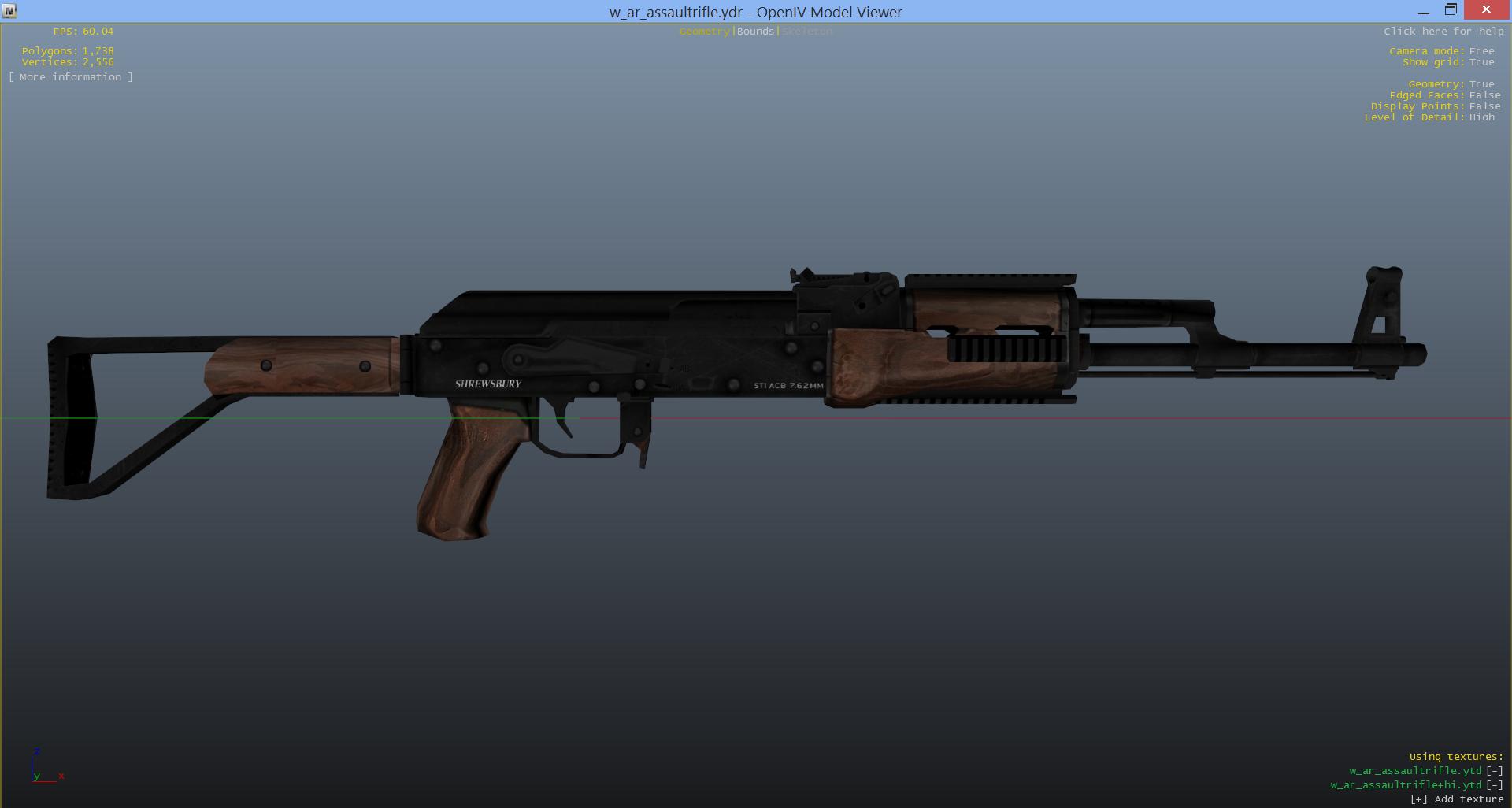 Wooden AK-47 Mod for Assault Rifle - GTA5-Mods com