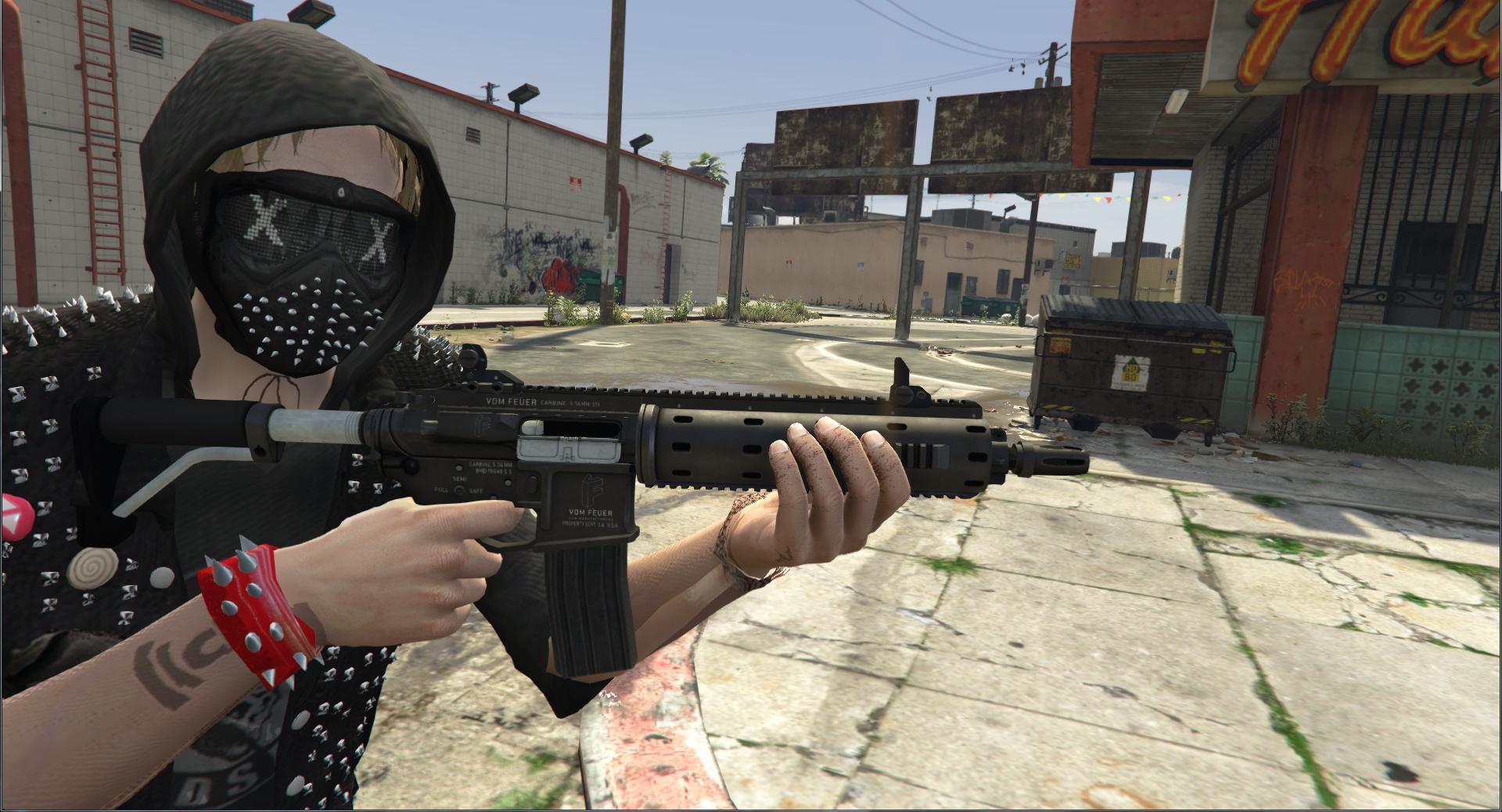 Watch Dogs Gun Mod
