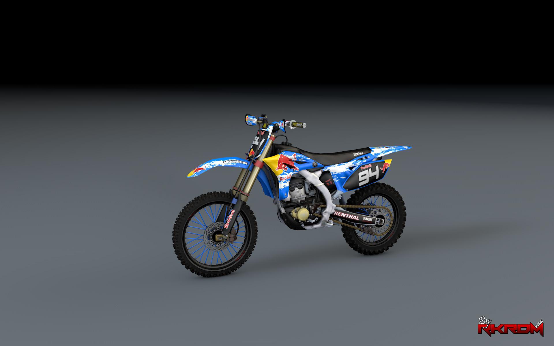 Yamaha yz250f redbull graphics add on gta5 for Yamaha yzf 250f