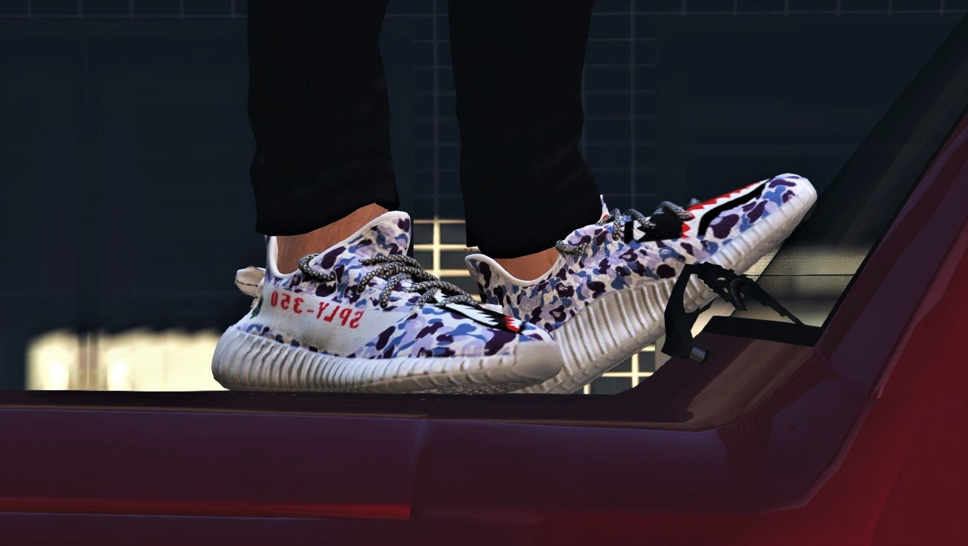 2df7533ec Yeezy 350 Boost - Bape Shark Purple Camo - GTA5-Mods.com