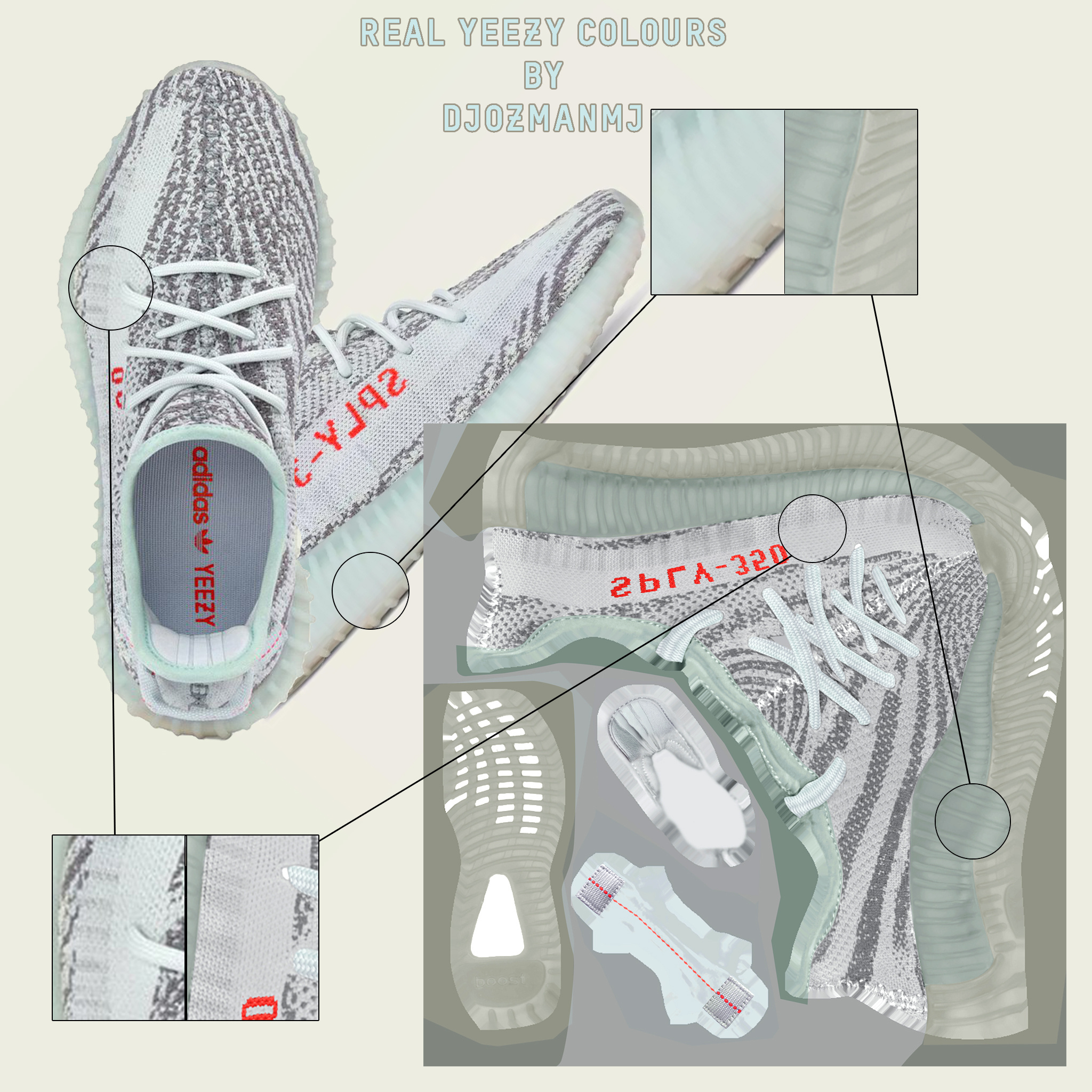 How To Buy Men Yeezy Boost 350 V2 Blue Tint Preview UK Quantity
