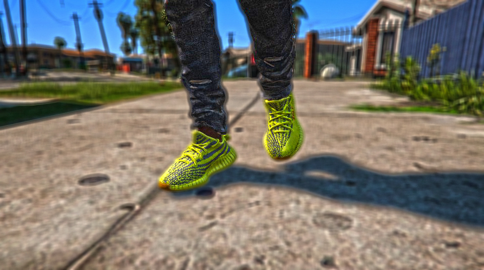 YEEZY BOOST 350 V2 | SEMI FROZEN YELLOW | REAL COLOURS - GTA5-Mods.com
