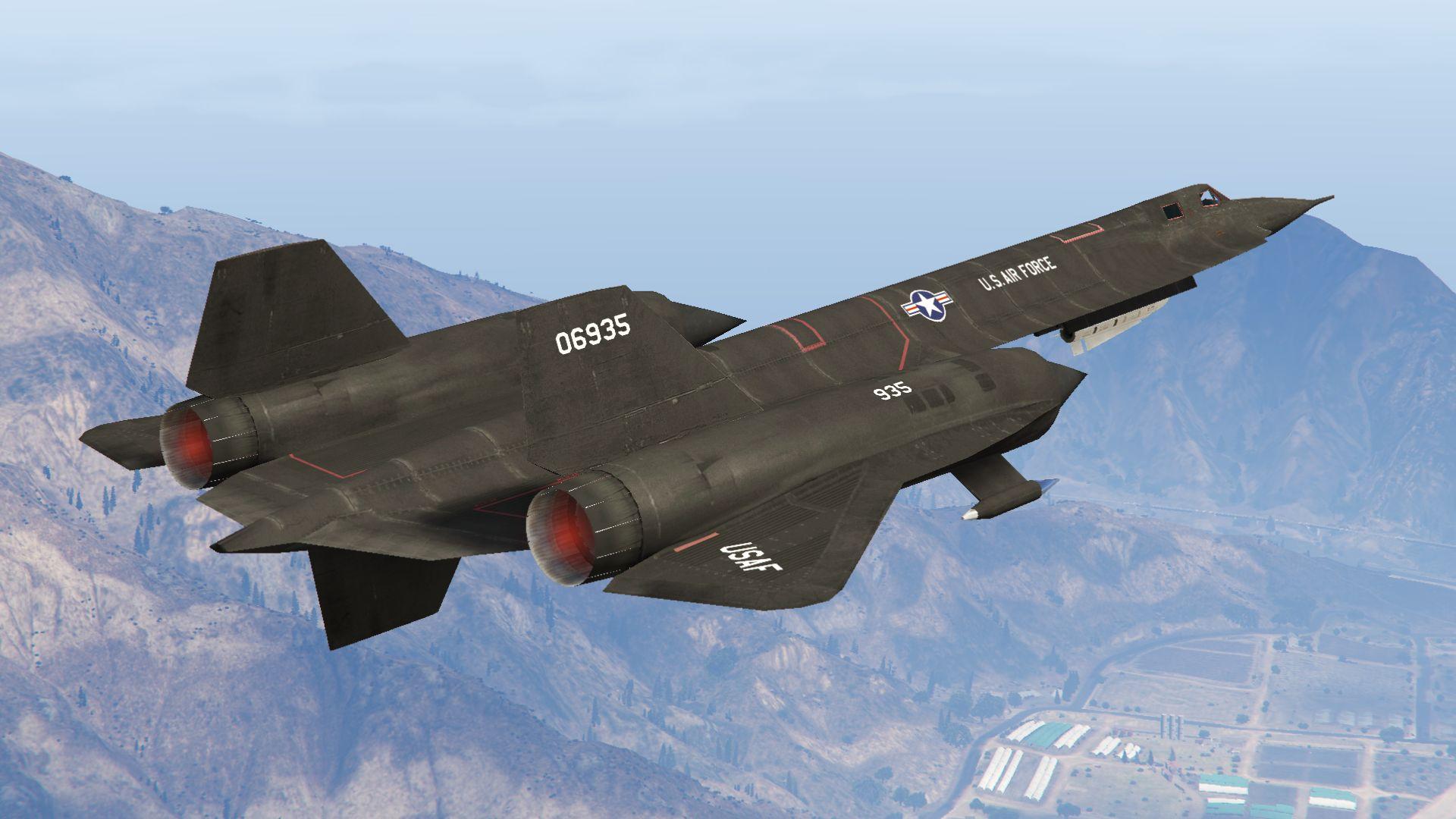 YF-12A Interceptor (working weapons) - GTA5-Mods com