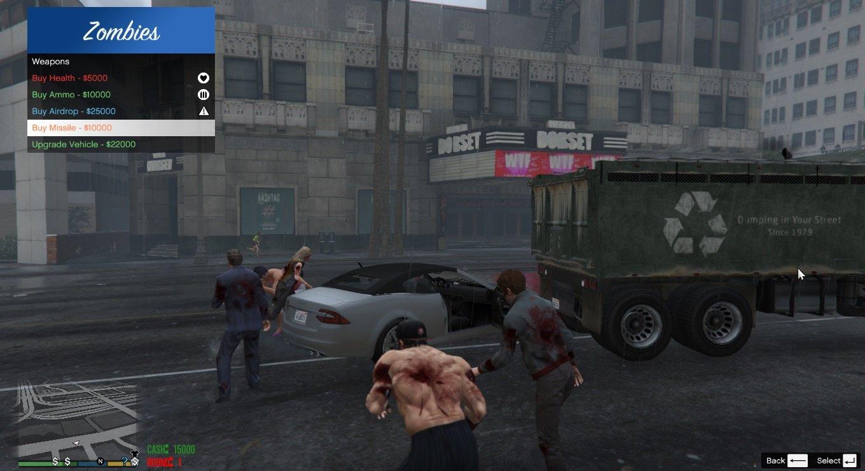 gta 5 зомби мод скачать